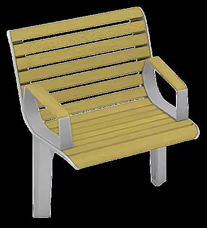 """<div id=""""container"""" class=""""container"""">Sitz EMAU SOLO mit Rückenlehne und Armlehnen, mit Robinienholzbelattung</div>"""