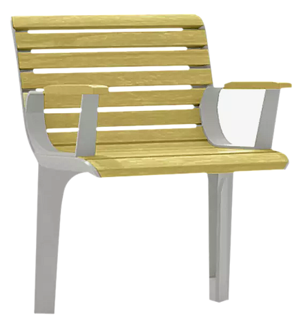 """<div id=""""container"""" class=""""container"""">Senioren-Sitz EMAU SOLO mit Rückenlehne und Armlehnen, mit Robinienholzbelattung</div>"""