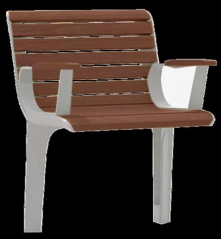 """<div id=""""container"""" class=""""container"""">Senioren-Sitz EMAU SOLO mit Rückenlehne und Armlehnen, mit Jatobaholzbelattung</div>"""