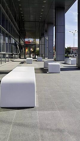 Sitzbank ALBA aus UTC®-Beton, in weiß