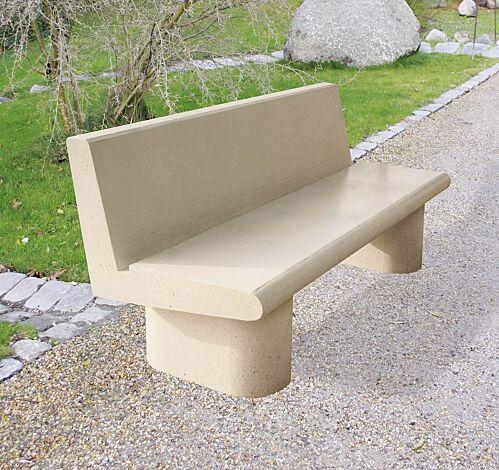Sitzbank ASTER aus Beton, in natur