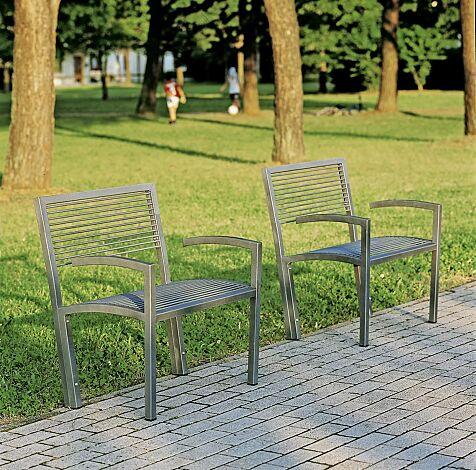 Sitzbank CAMILLA mit Rückenlehne und Armlehnen