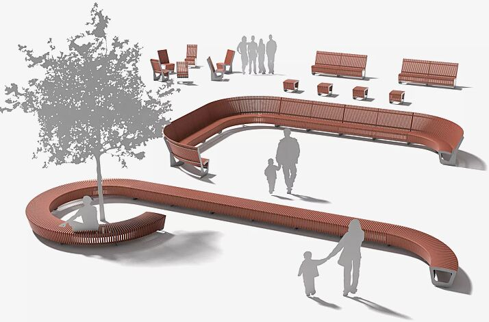 Sitzbank und Sitz LANDSCAPE COMPACT, verschiedene Ausführungen