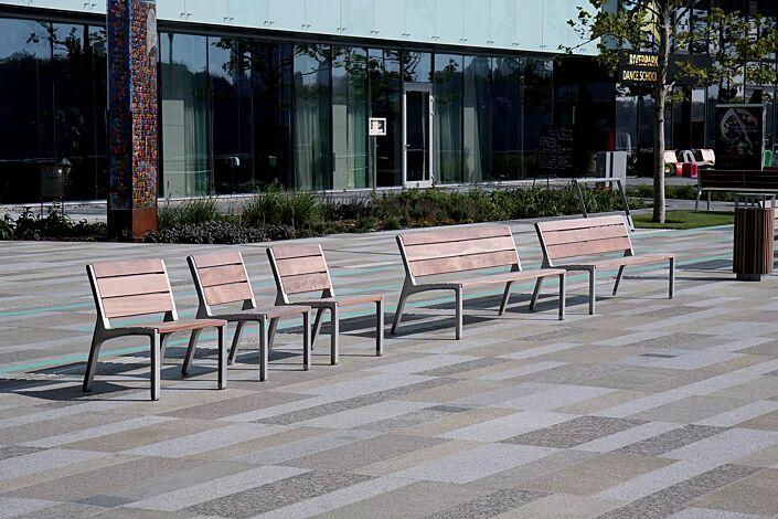 Sitz und Sitzbank MIELA mit Jatobaholzbelattung