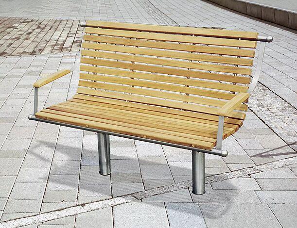 Sitzbank SAVONA INOX, 2-Sitzer