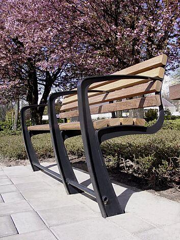 Sitzbank SENIOR 2-Sitzer + 1-Sitzer mit 3 Armlehnen