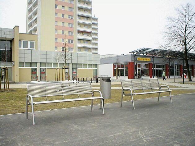 Sitzbank SIENA aus Edelstahl