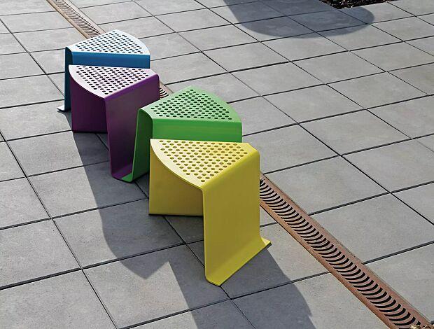 Sitz SINUS gerade und gebogen, in Sonderfarben (auf Anfrage)