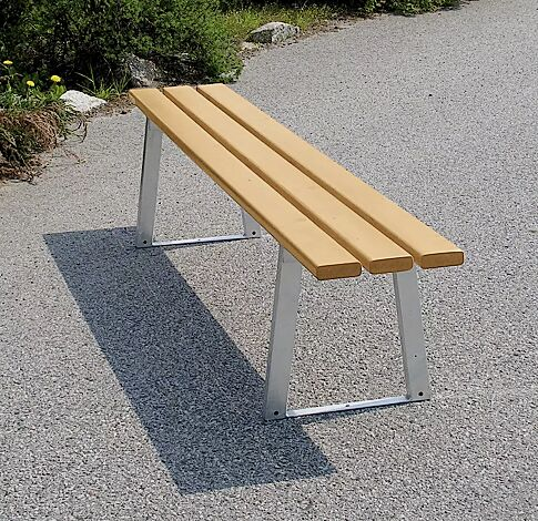 Sitzbank TURIN ohne Rückenlehne, mit Fichtenholzbelattung