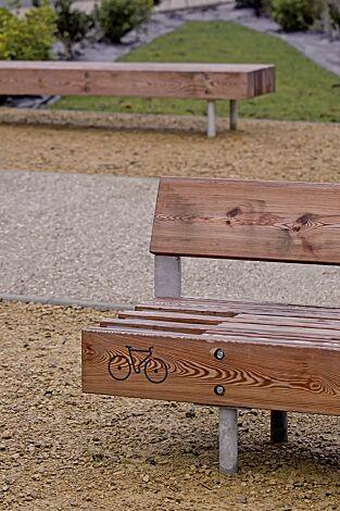 Sitzbänke WOODY mit und ohne Rückenlehne, mit Jatobaholzbelattung
