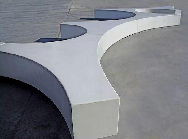 Sitzinsel FOLIA mit Acrylbeschichtung in Farbe beton