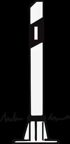 Sockel-Leitpfosten lange Refl.