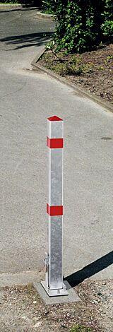 Sperrpfosten OVIEDO mit Abschlusskappe aus Kunststoff (Pyramidenkopf)