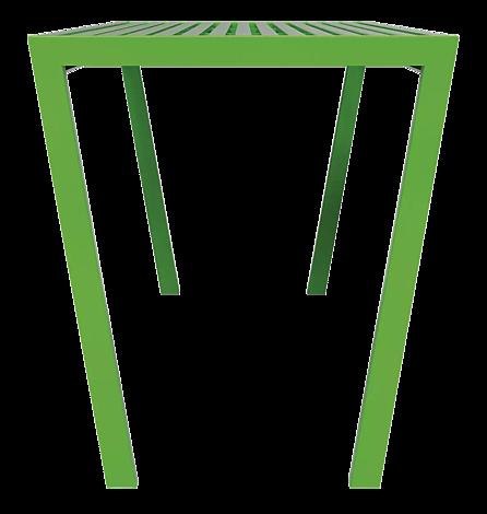 Tisch CASTEO in RAL 6018 gelbgrün