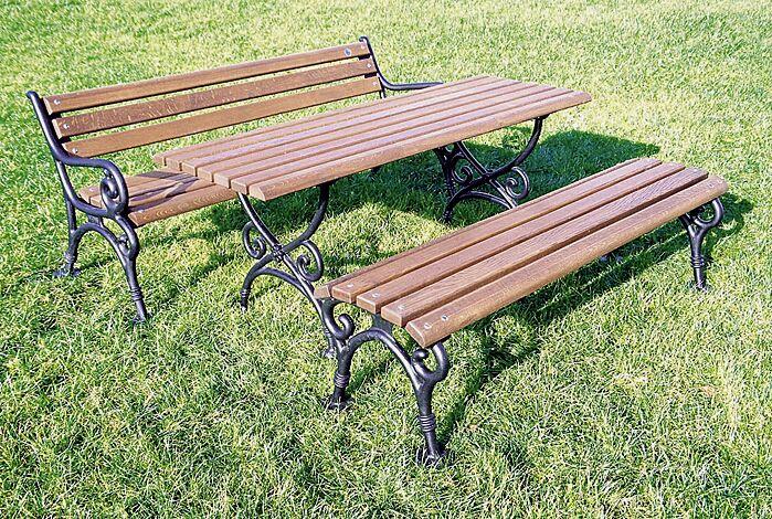 """<div id=""""container"""" class=""""container"""">Tisch GEROLSTEIN und Sitzbänke GEROLSTEIN mit und ohne Rückenlehne</div>"""