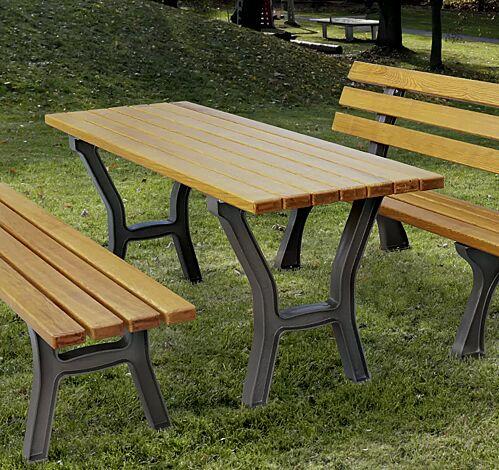 """<div id=""""container"""" class=""""container"""">Bank-Tisch-Kombination VENEDIG mit Escheholzbelattung, bestehend aus einem Tisch und Sitzbank ohne und mit Rückenlehne</div>"""