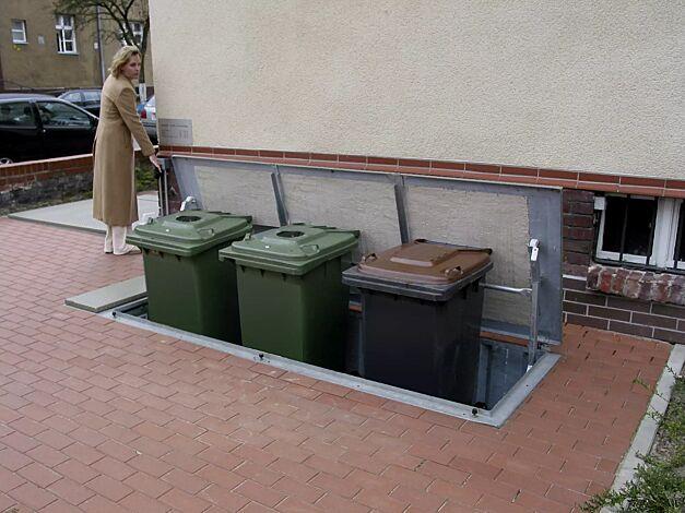 Unterflur-Müllbehälterdreifachschrank BANTRY für Tonnengröße 3 x 240 Liter