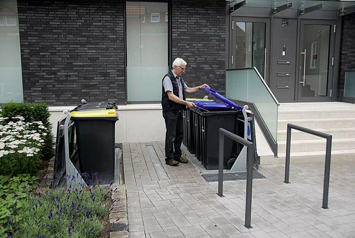 2 Unterflur-Müllbehältervierfachschränke BANTRY für Tonnengröße 4 x 240 Liter