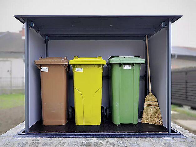 Unterflur-Müllbehälterschrank HIDEOUT für Tonnengröße maximal 2 x 240 Liter und 1 x 120 Liter