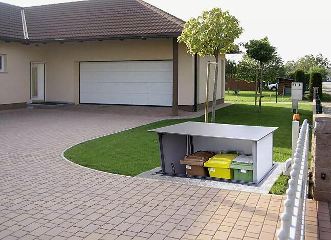 Unterflur-Müllbehälterschrank HIDEOUT für Tonnengröße 3 x 120 Liter