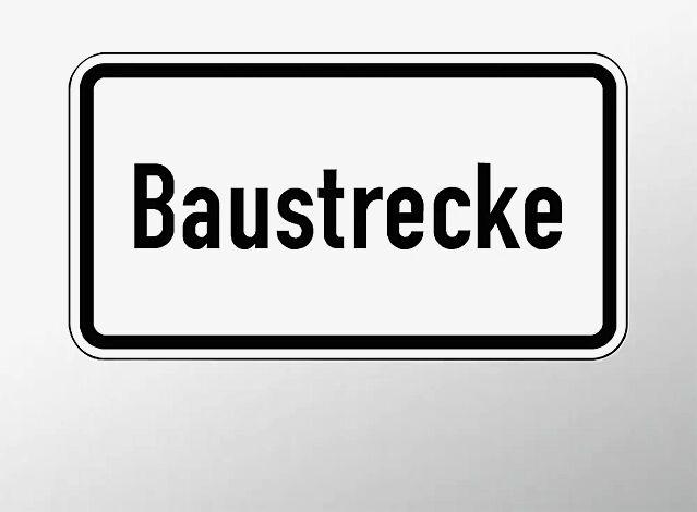 Verkehrszeichen: Baustrecke