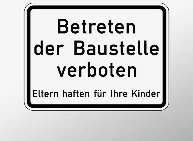 Verkehrszeichen: Betreten der Baustelle verboten