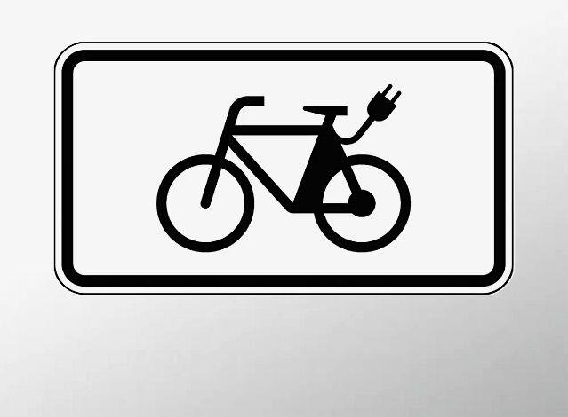 Verkehrszeichen: E-Bikes