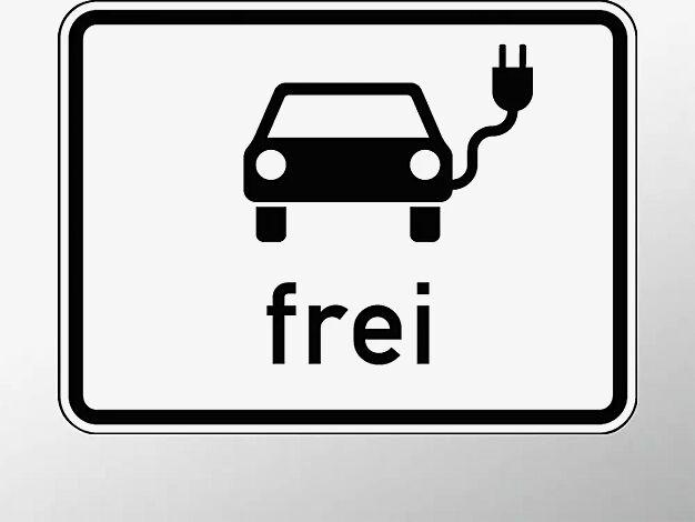 Verkehrszeichen: Elektrisch betriebene Fahrzeuge frei