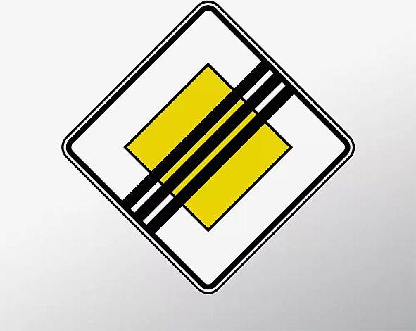 Verkehrszeichen: Ende der Vorfahrtsstraße