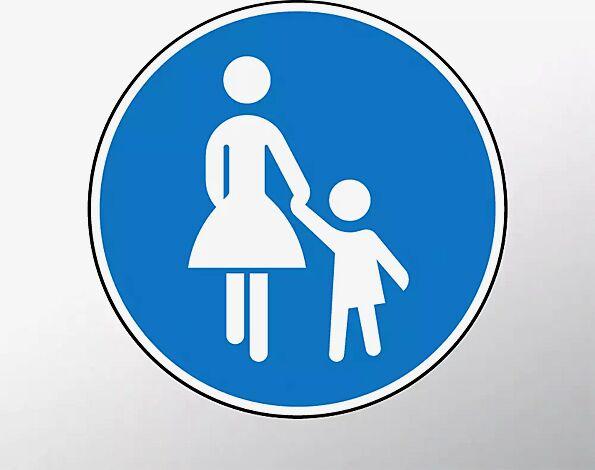 Verkehrszeichen: Gehweg