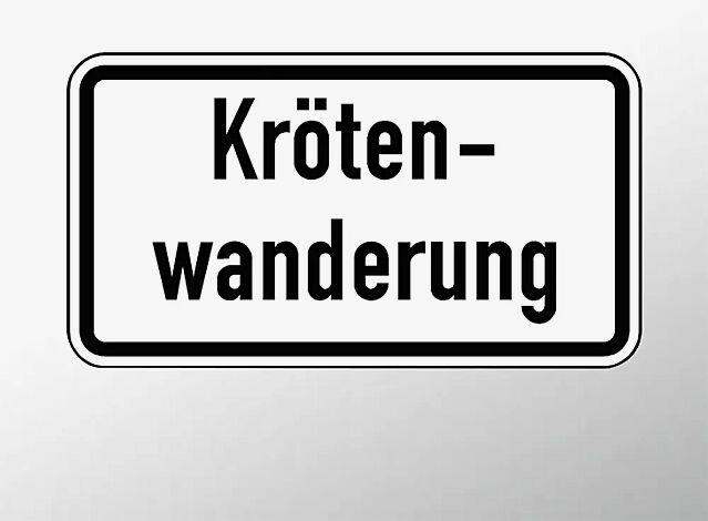 Verkehrszeichen: Krötenwanderung
