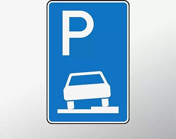 """<div id=""""container"""" class=""""container"""">Verkehrszeichen: Parken auf Gehwegen halb in Fahrtrichtung rechts</div>"""