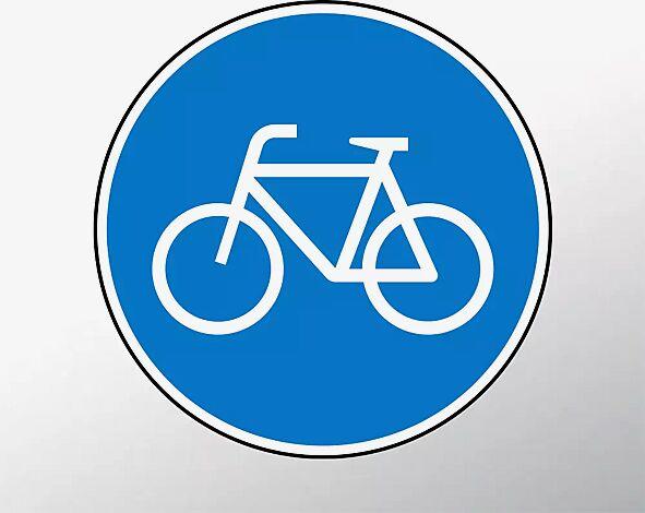 Verkehrszeichen: Radweg