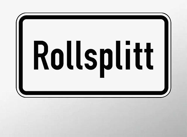 Verkehrszeichen: Rollsplitt