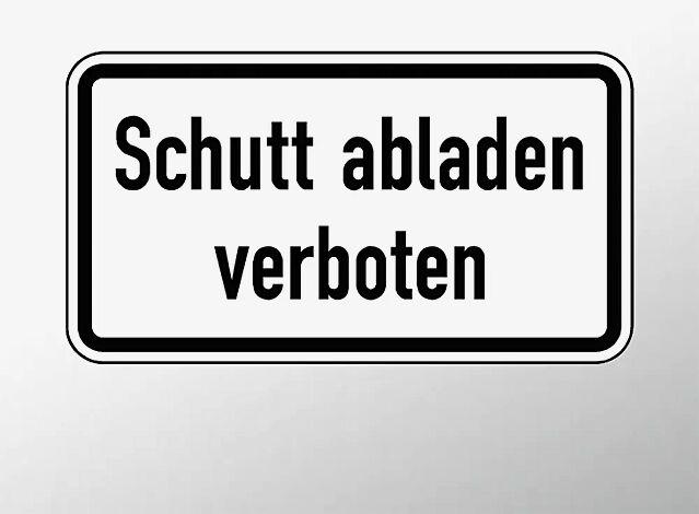 Verkehrszeichen: Schutt abladen verboten