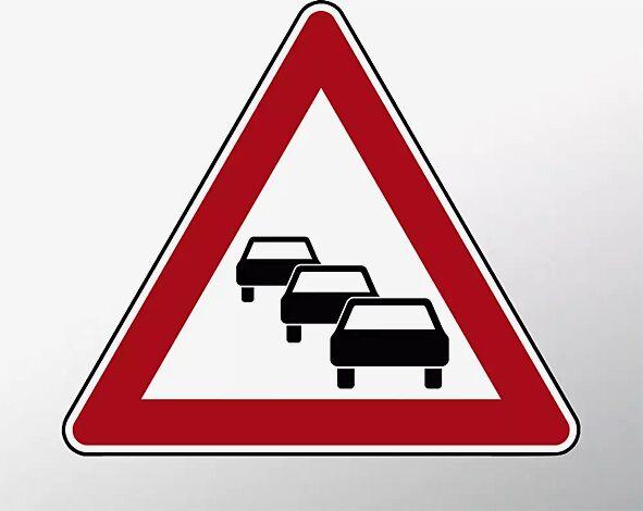 Verkehrszeichen: Stau
