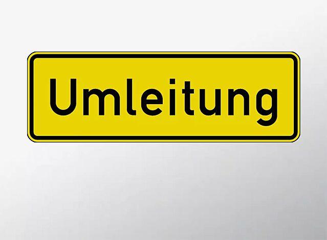 Verkehrszeichen: Umleitungsankündigung