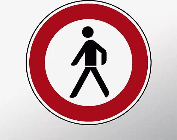 Verkehrszeichen: Verbot für Fußgänger