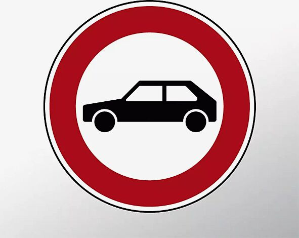 Verkehrszeichen: Verbot für Personenkraftwagen