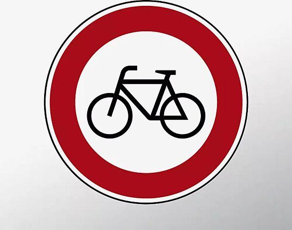 Verkehrszeichen: Verbot für Radverkehr