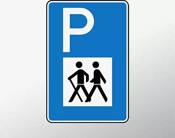 Verkehrszeichen: Wanderparkplatz