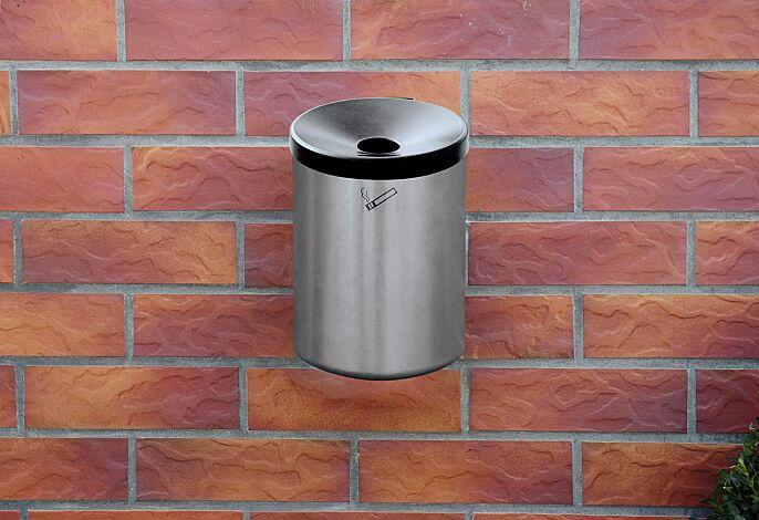 Wandascher GLASGOW, 6 Liter, in graualuminium ähnlich RAL 9007