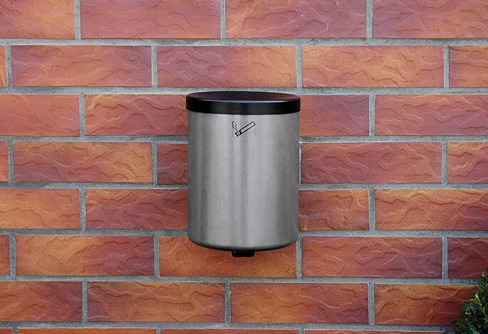 Wandascher GLASGOW, 6 Liter, in weißaluminium ähnlich RAL 9006