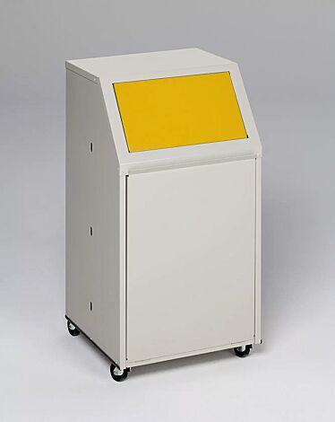 """<div id=""""container"""" class=""""container"""">Wertstoffsammler MANCHESTER, 40 Liter, mit Laufrollen, Einwurfklappe in RAL 1023 verkehrsgelb</div>"""