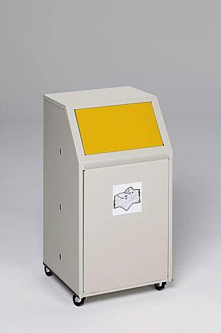 """<div id=""""container"""" class=""""container"""">Wertstoffsammler MANCHESTER, 40 Liter, mit Laufrollen, mit Piktogramm Wertstoffe, Einwurfklappe in RAL 1023 verkehrsgelb</div>"""