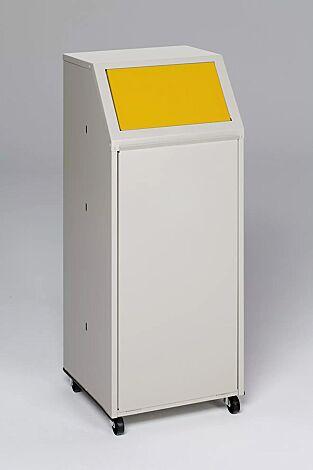 """<div id=""""container"""" class=""""container"""">Wertstoffsammler MANCHESTER, 70 Liter, mit Laufrollen, Einwurfklappe in RAL 1023 verkehrsgelb</div>"""