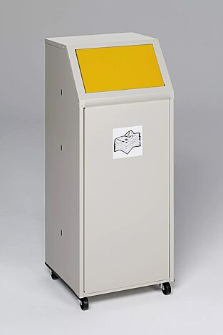 """<div id=""""container"""" class=""""container"""">Wertstoffsammler MANCHESTER, 70 Liter, mit Laufrollen, mit Piktogramm Wertstoffe, Einwurfklappe in RAL 1023 verkehrsgelb</div>"""