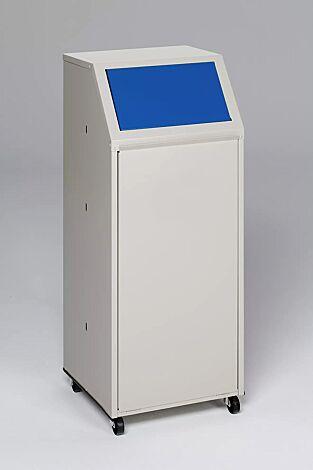 """<div id=""""container"""" class=""""container"""">Wertstoffsammler MANCHESTER, 70 Liter, mit Laufrollen, Einwurfklappe in RAL 5010 enzianblau</div>"""