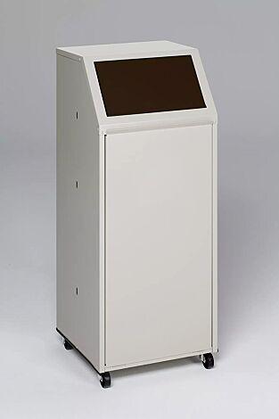 """<div id=""""container"""" class=""""container"""">Wertstoffsammler MANCHESTER, 70 Liter, mit Laufrollen, Einwurfklappe in RAL 8014 sepiabraun</div>"""