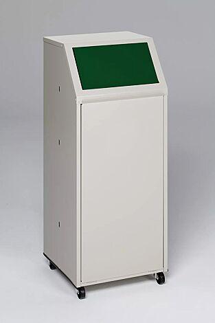 """<div id=""""container"""" class=""""container"""">Wertstoffsammler MANCHESTER, 70 Liter, mit Laufrollen, Einwurfklappe in RAL 6001 smaragdgrün</div>"""